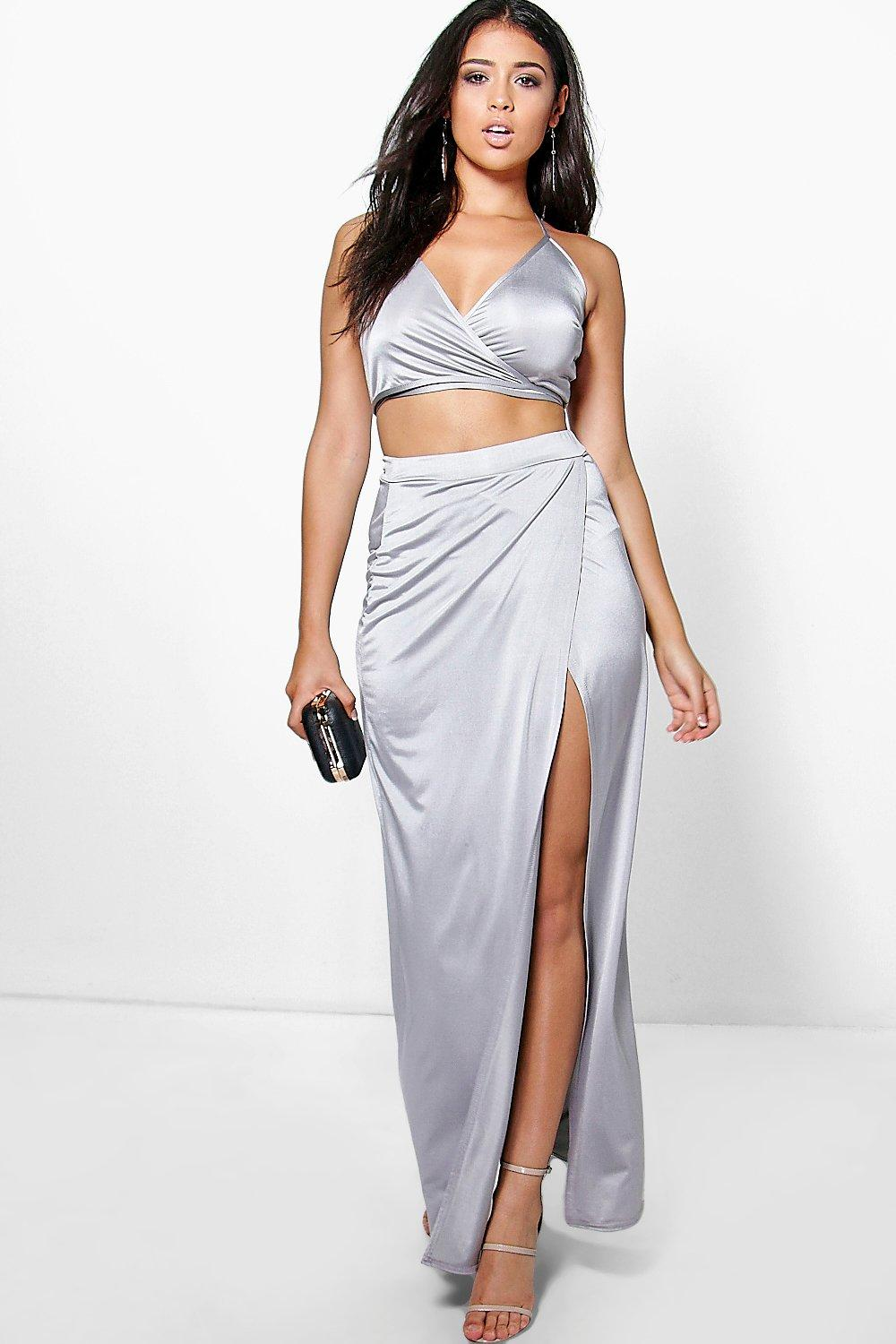 Molly Slinky Wrap Over Cami & Maxi Skirt Co-ord