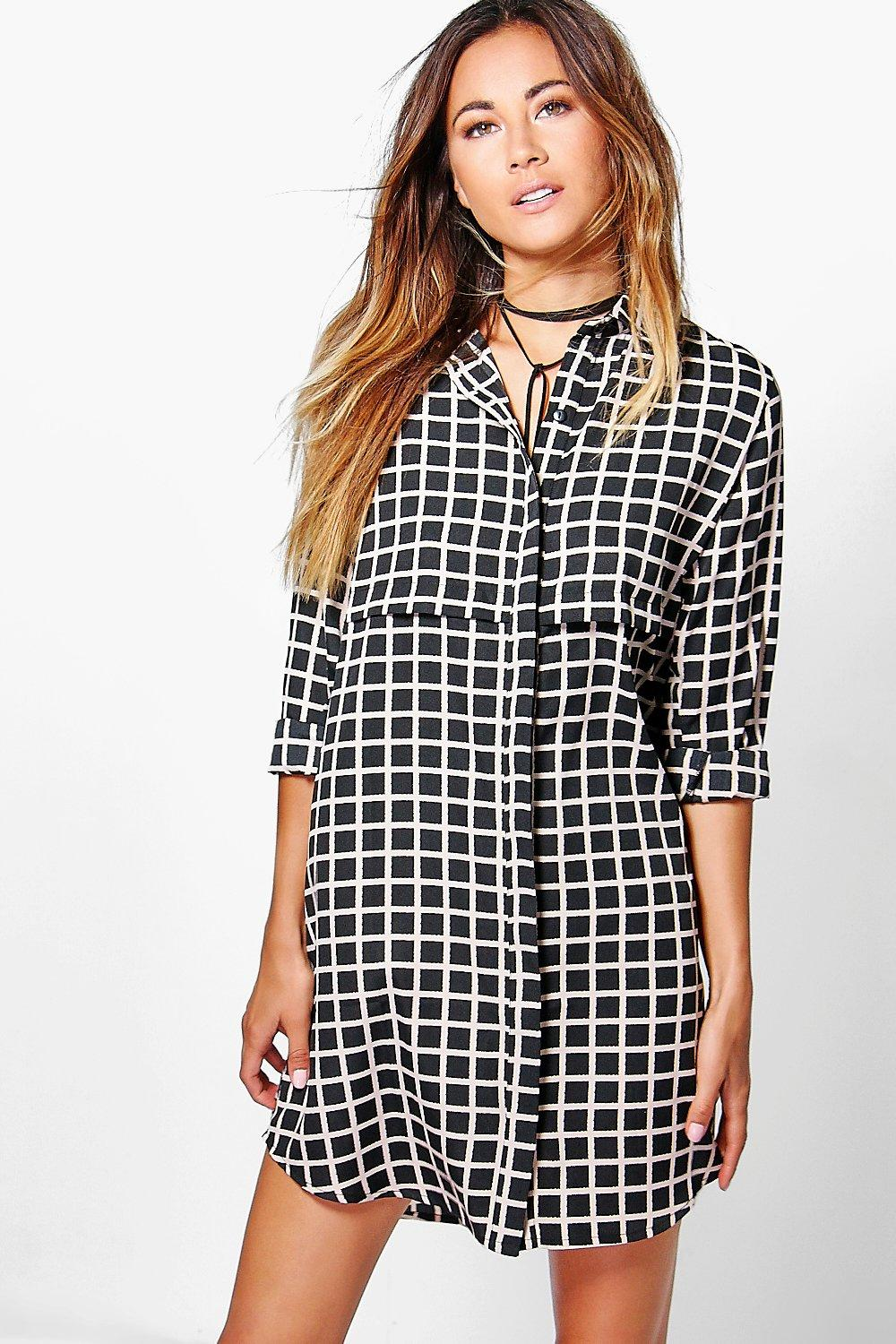 Amanda Check Shirt Dress