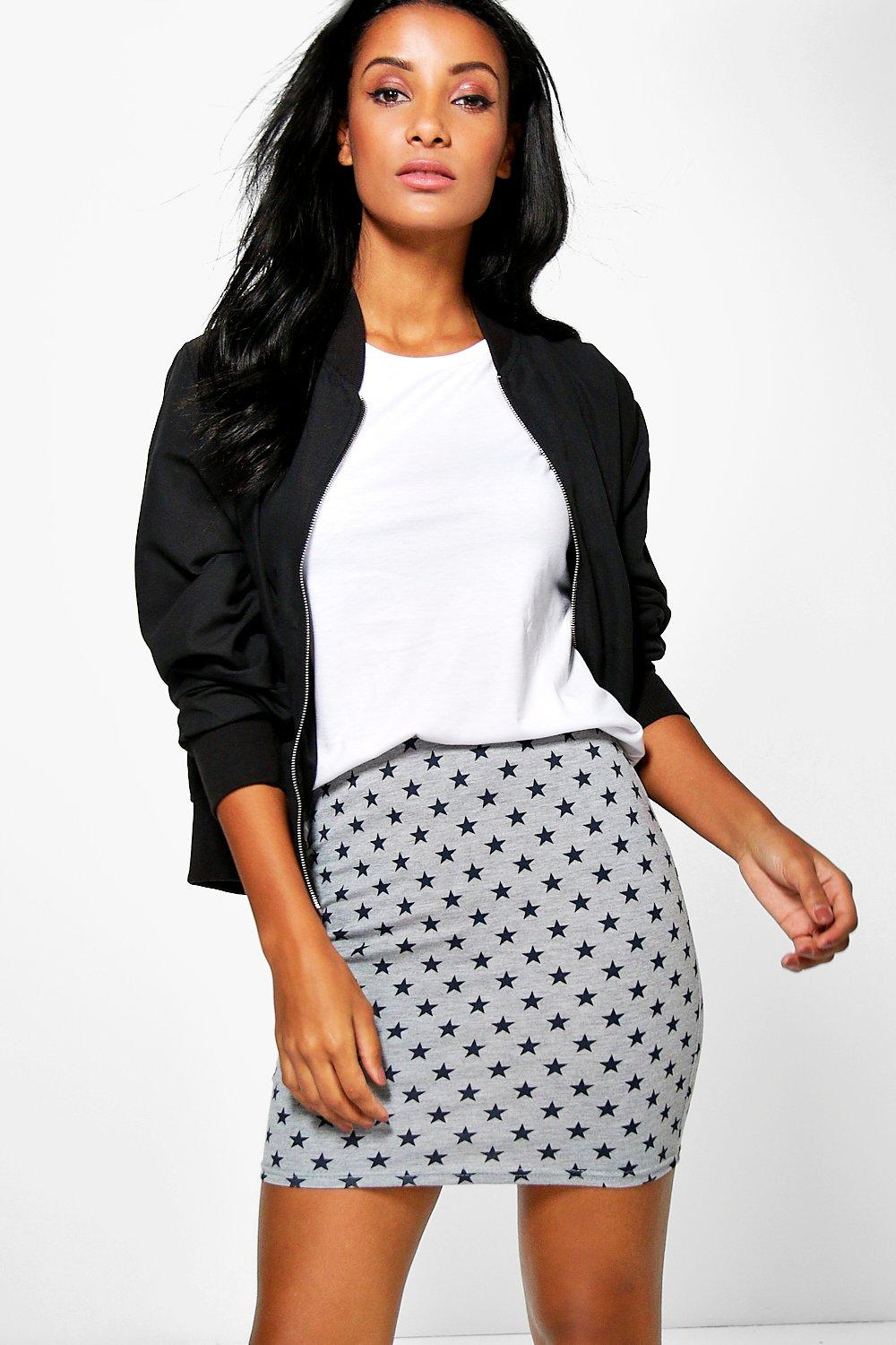 Amal Star Print Mini Skirt