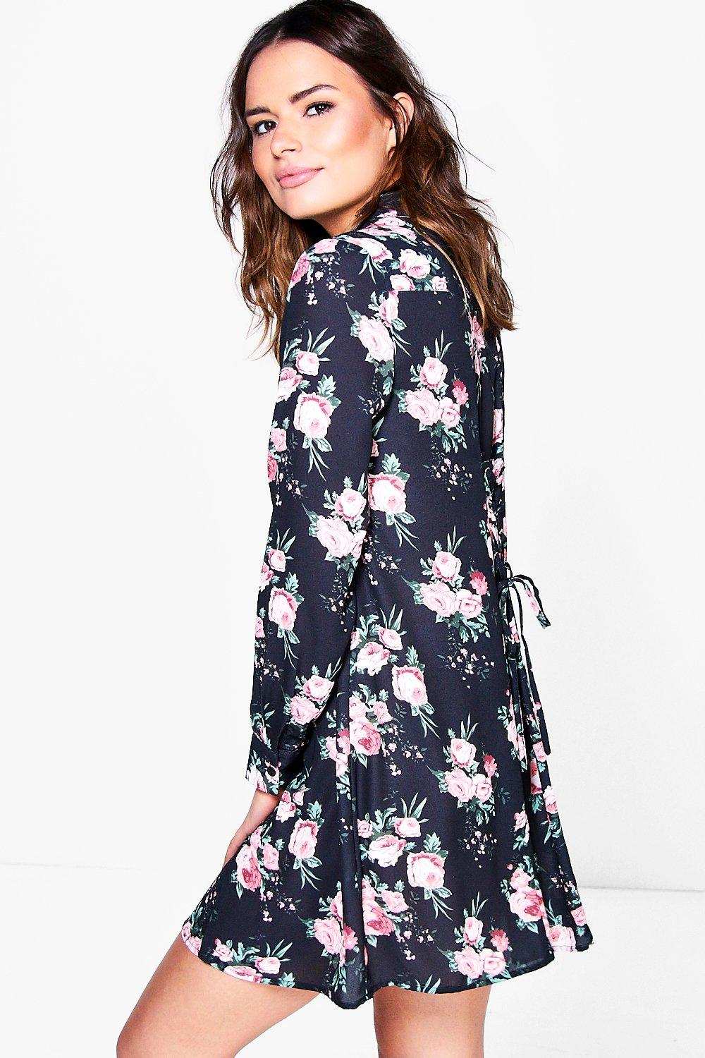 Juanita Tie Back Shirt Dress