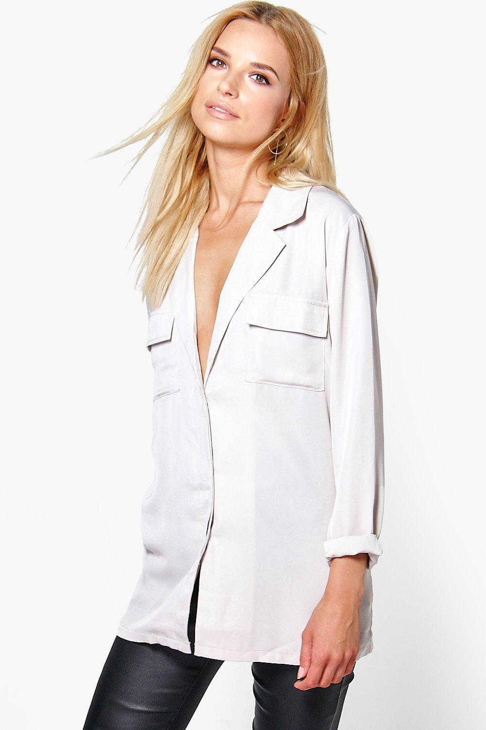 Eliza Rever Collar Pocket Shirt