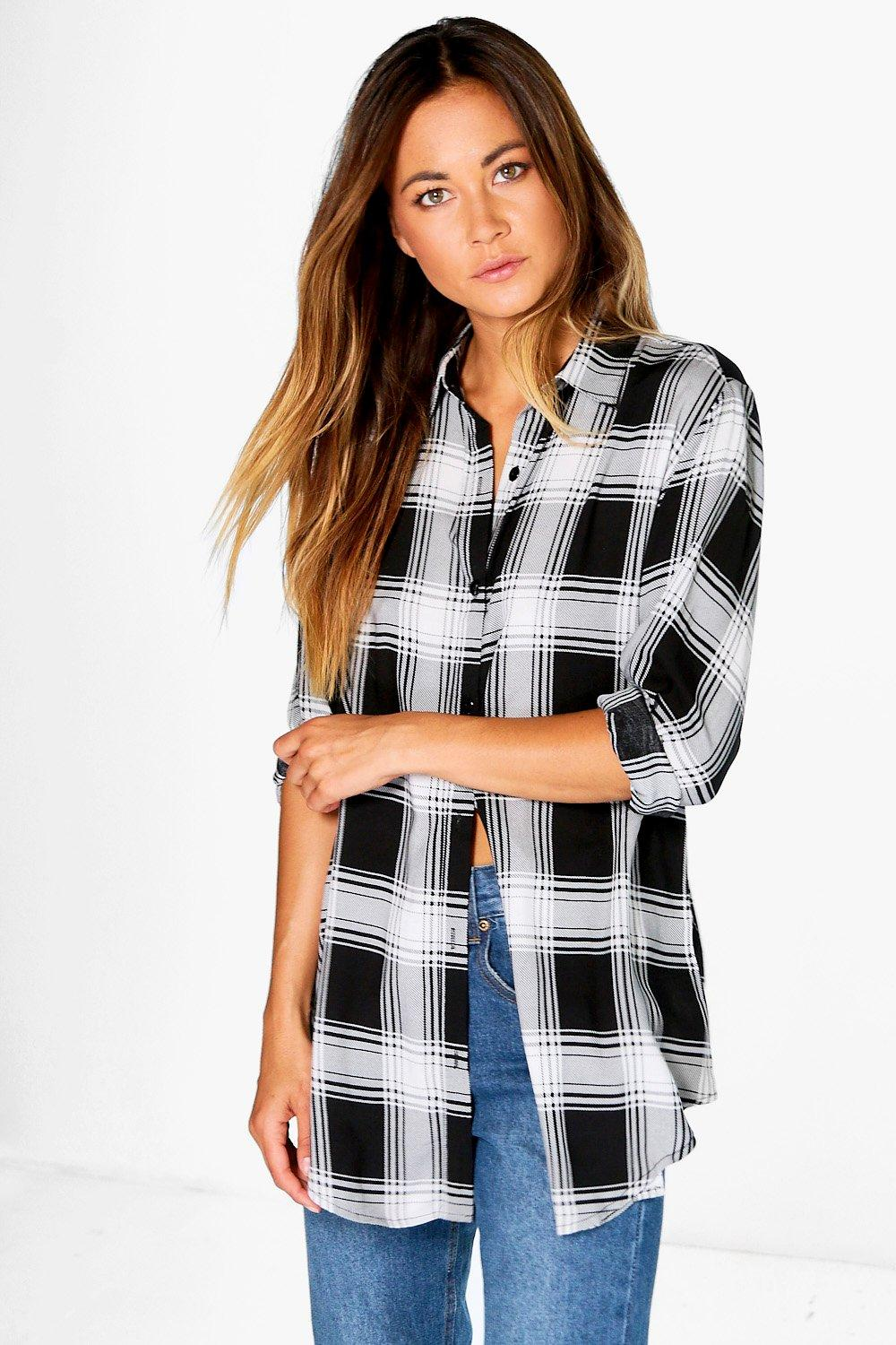 Maddie Large Check Oversized Shirt