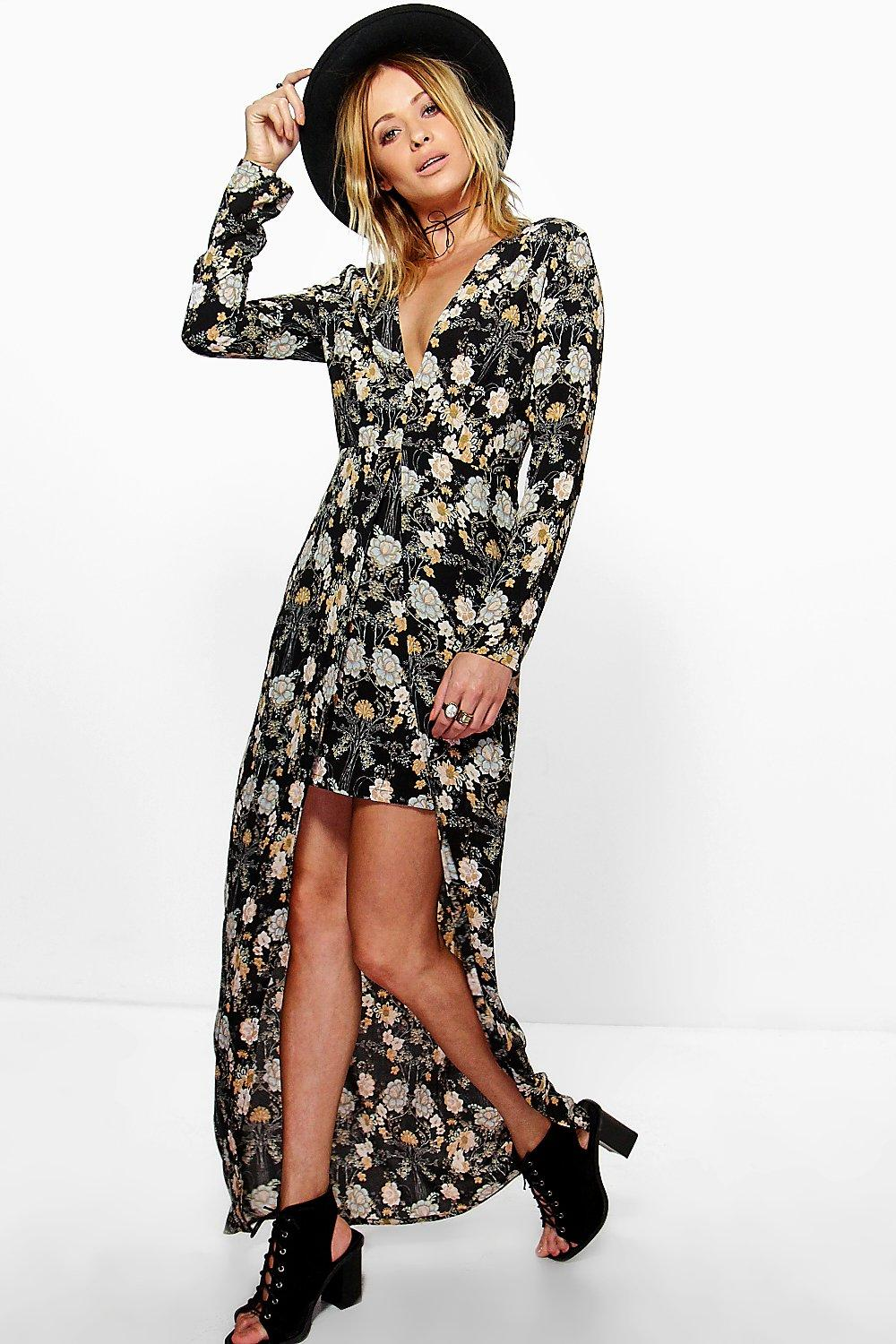 Ella Floral Split Front Maxi Dress