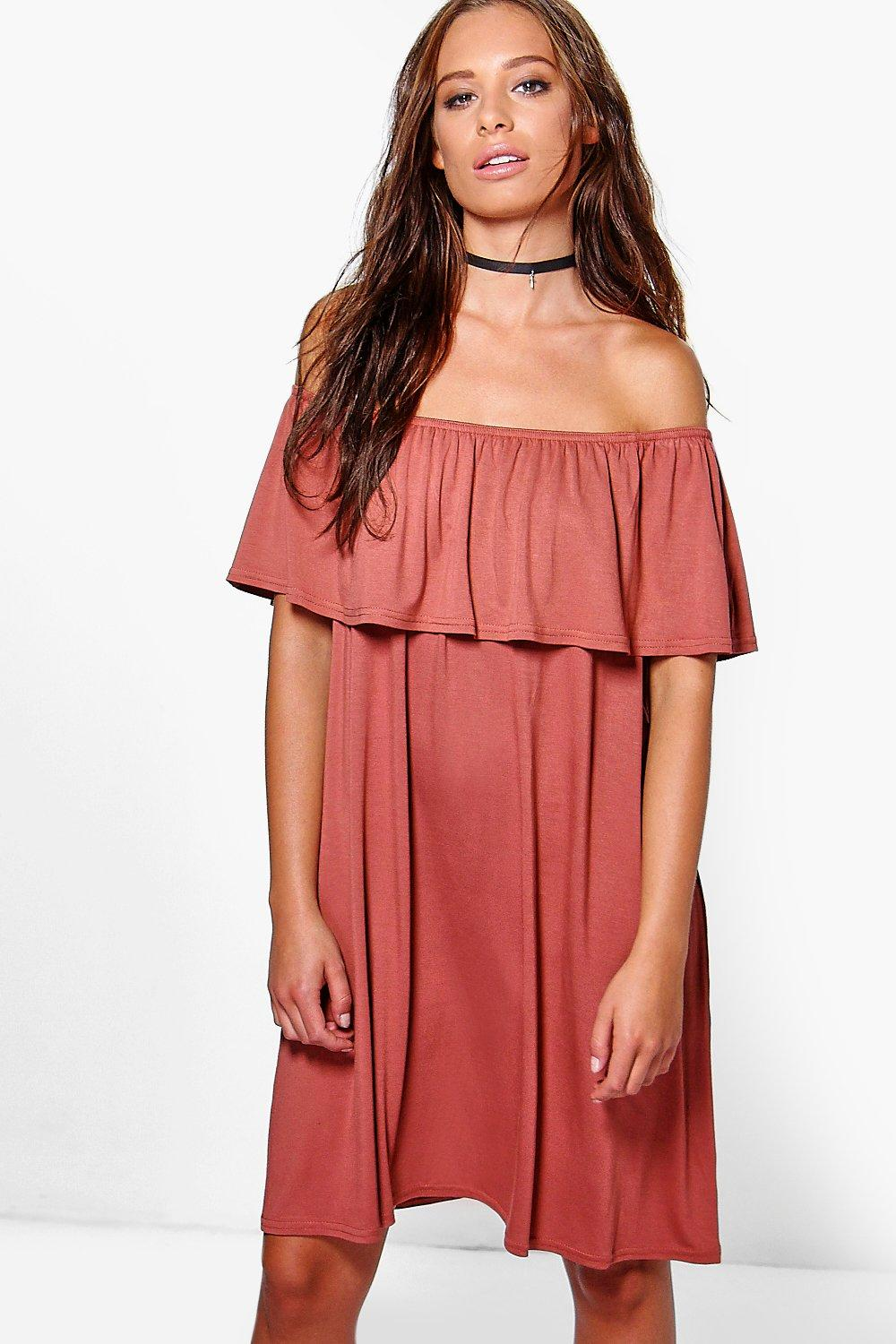 Lucy Off The Shoulder Frill Dress