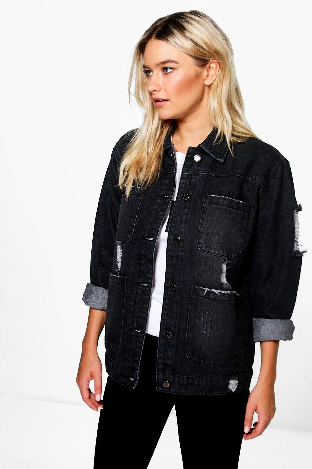 Jodie Oversized Washed Denim Jacket