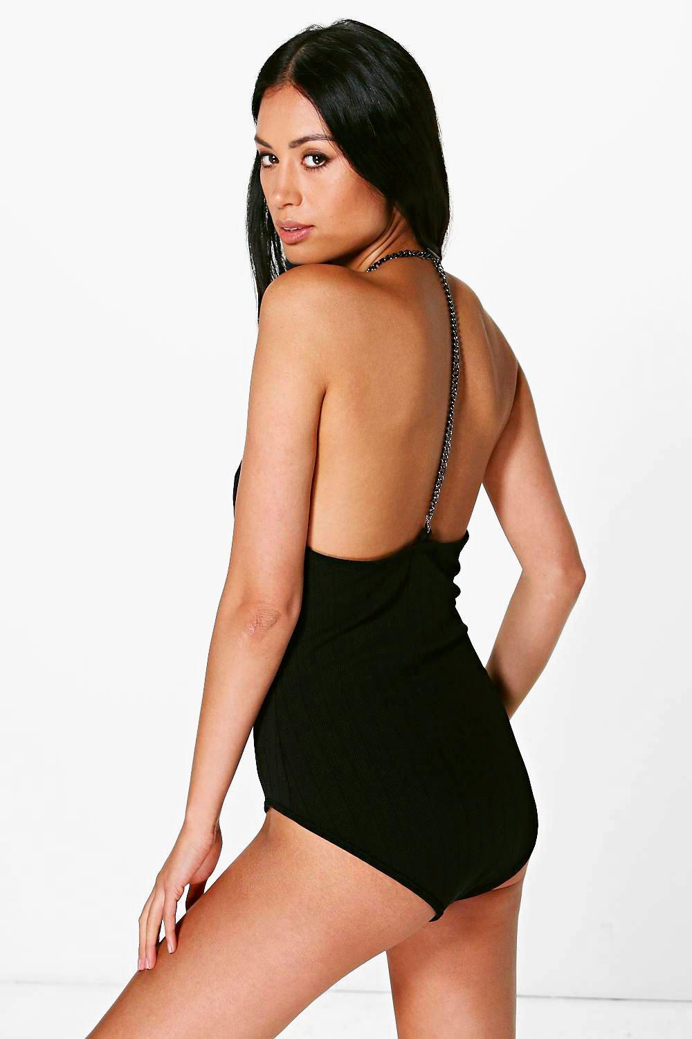 Ivy Chain Back Bandage Bodysuit