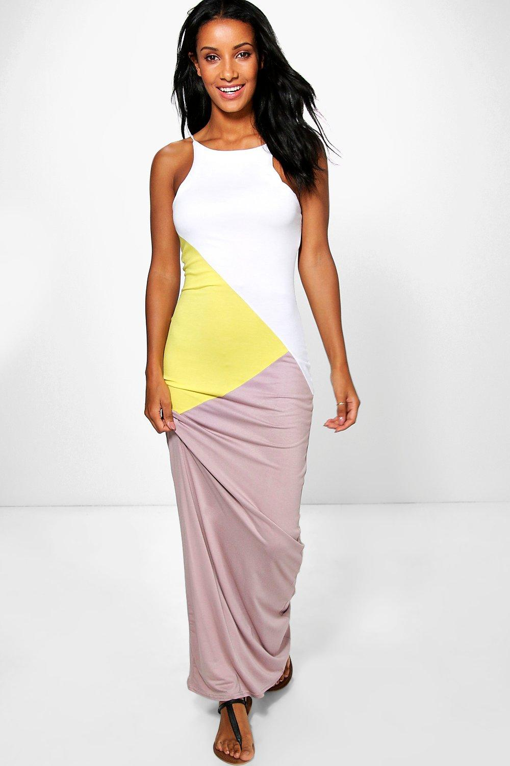 Jasmine Colour Block Maxi Dress