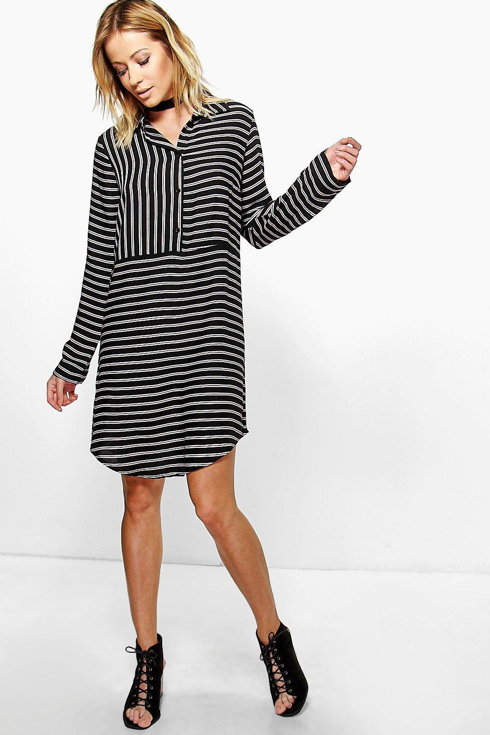 Limara Striped Shirt Dress
