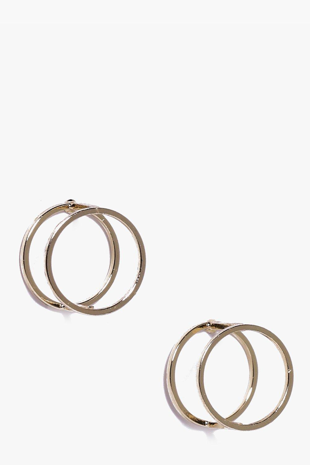 Martha 3D Circle Stud Earrings