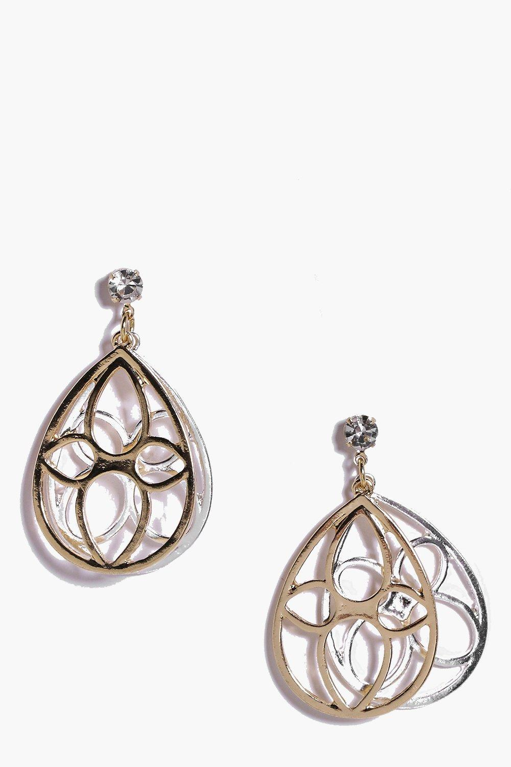 Alice Filigree Layered Earrings