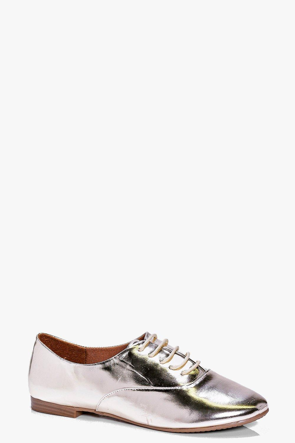 Eliza Metallic Lace Up Brogue