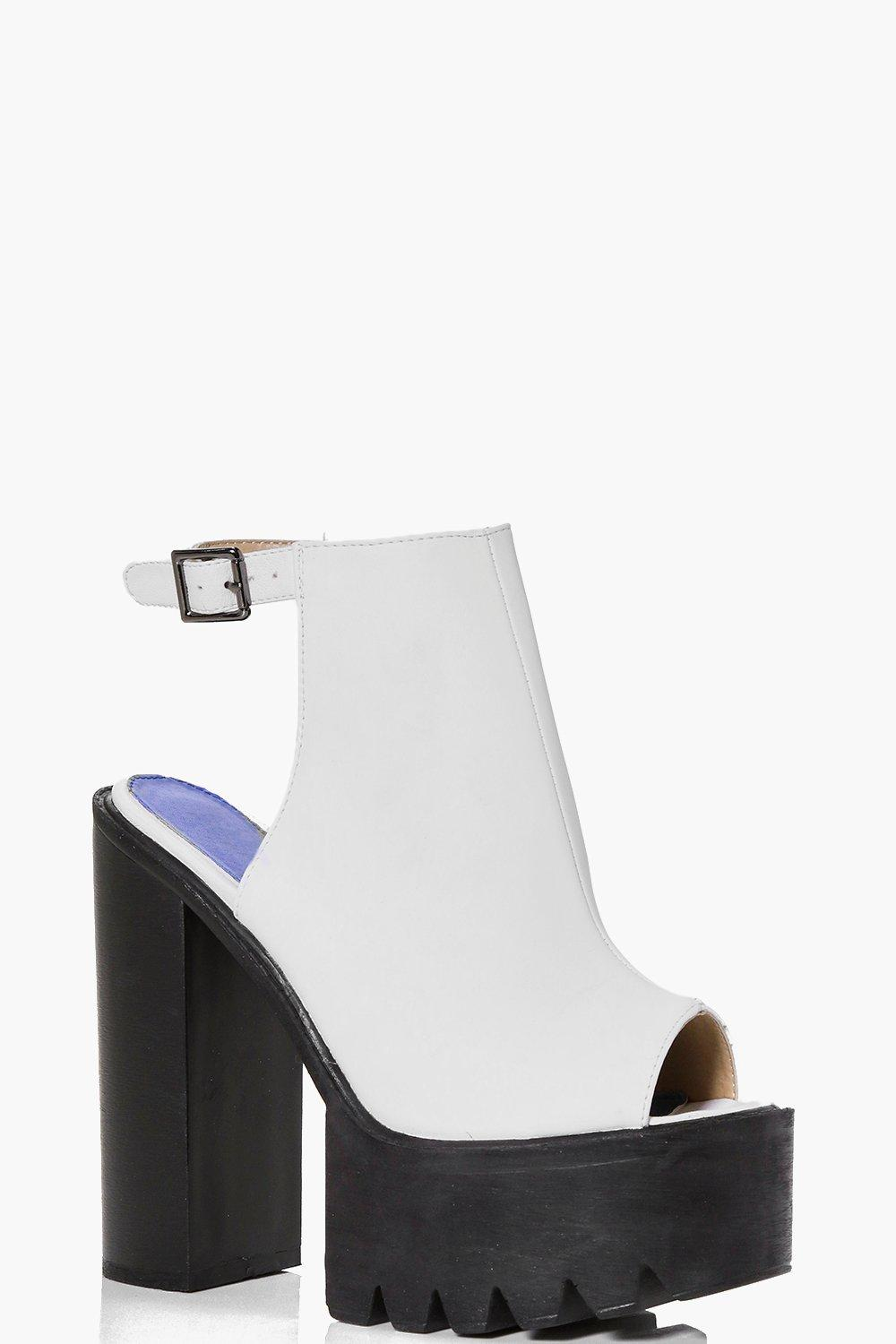 Georgia Cleated Platform Mule Heel