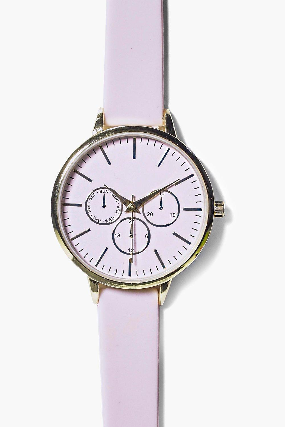 Ava Minimalistic Rubber Strap Watch