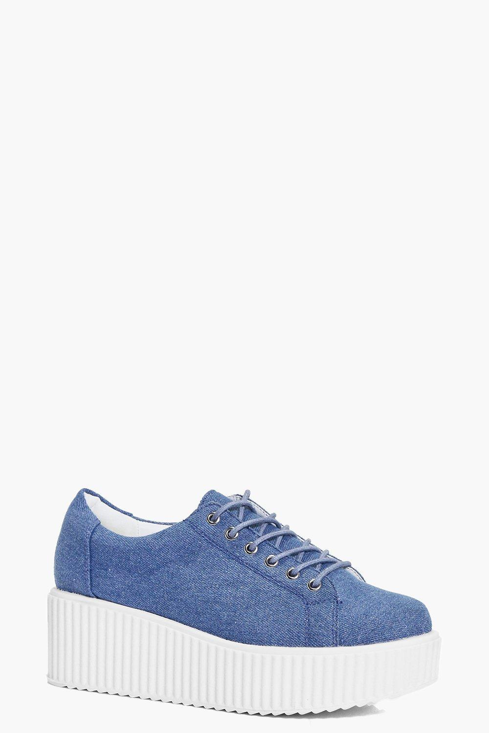 Violet Lace Up Platform Trainer