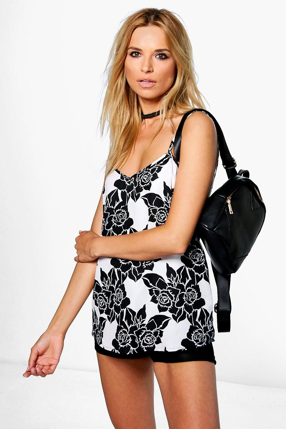 Clare Large Floral Woven Cami