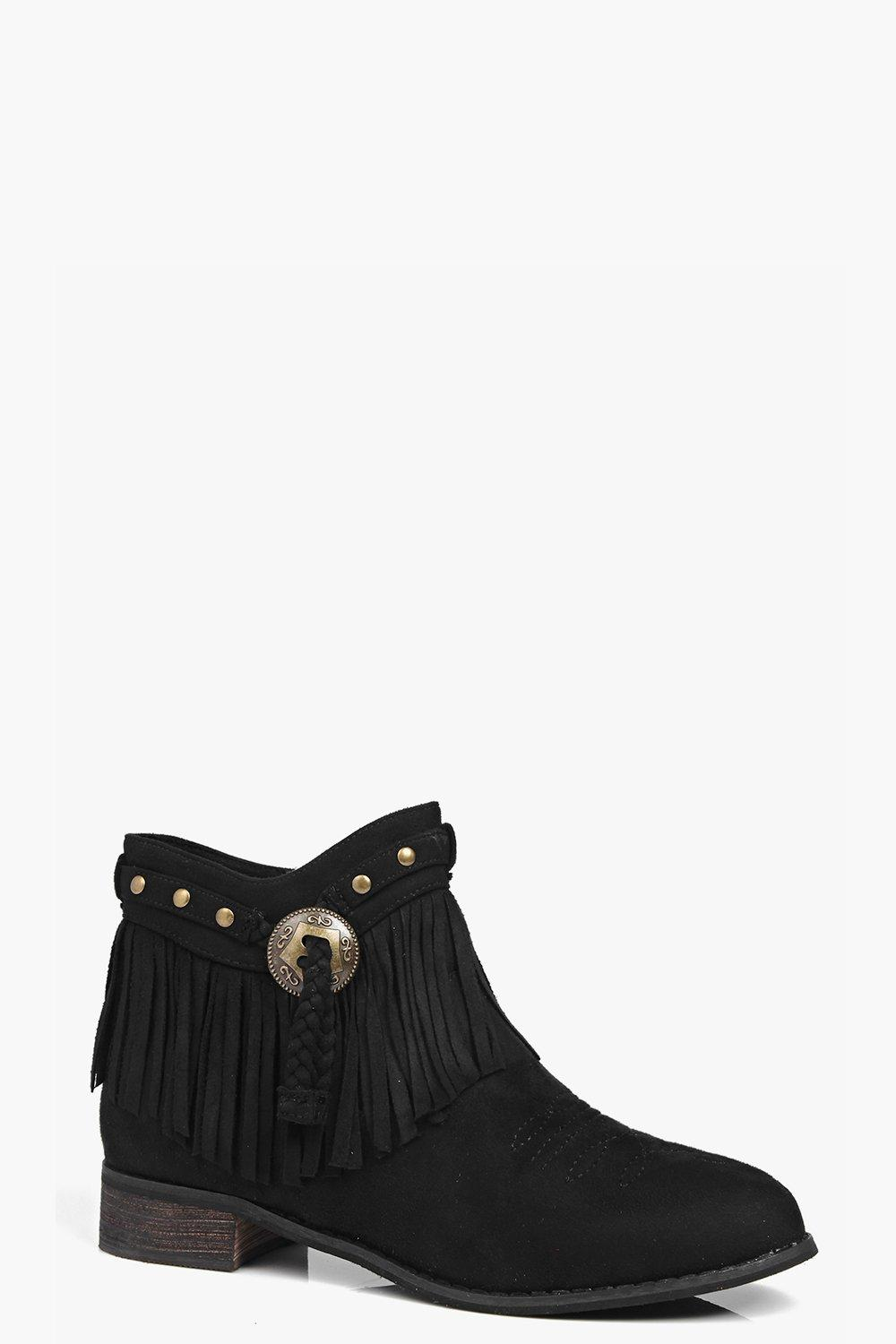 Isla Fringe Trim Ankle Boot