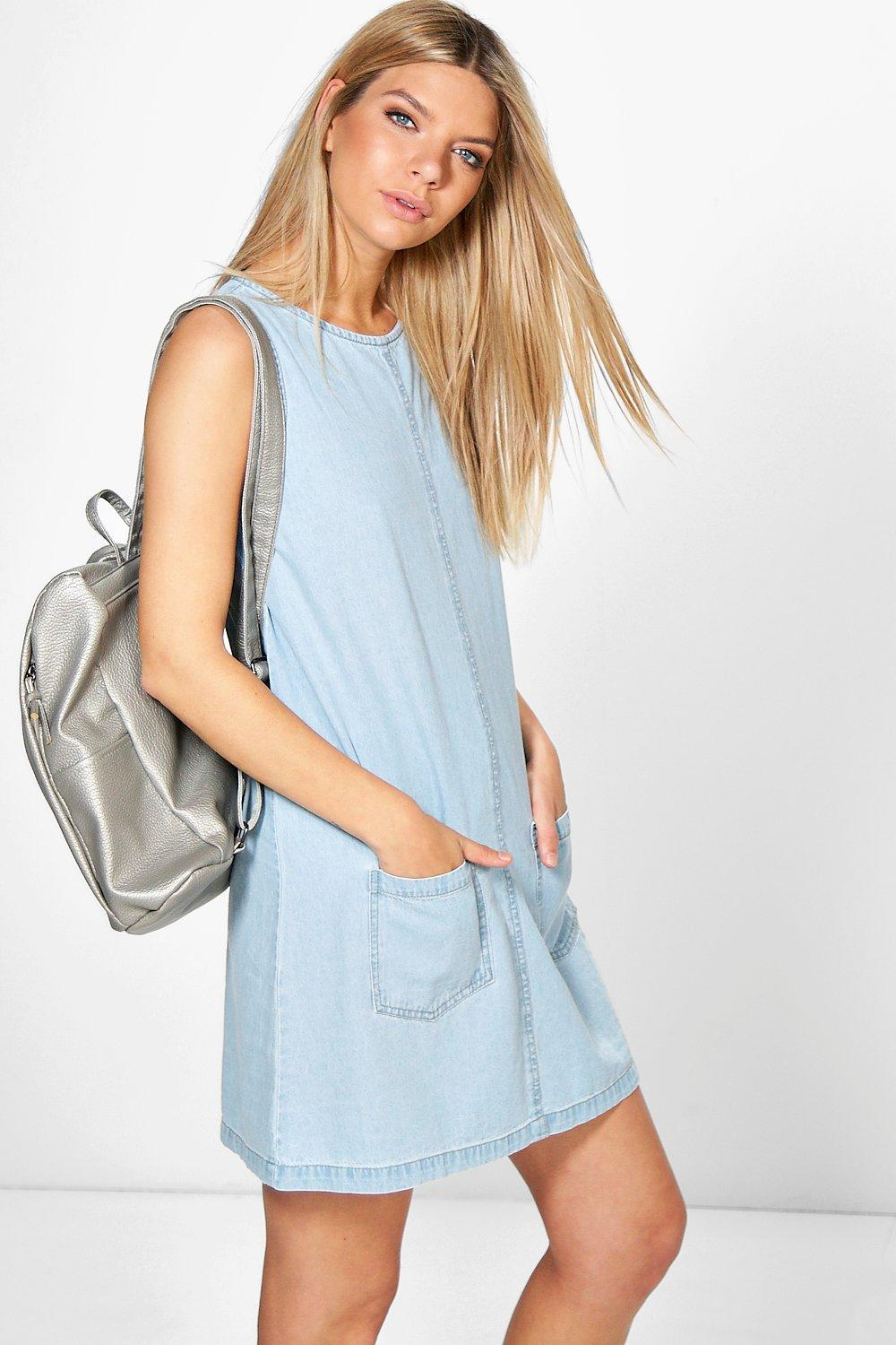 Lottie Pinafore Style Denim Dress