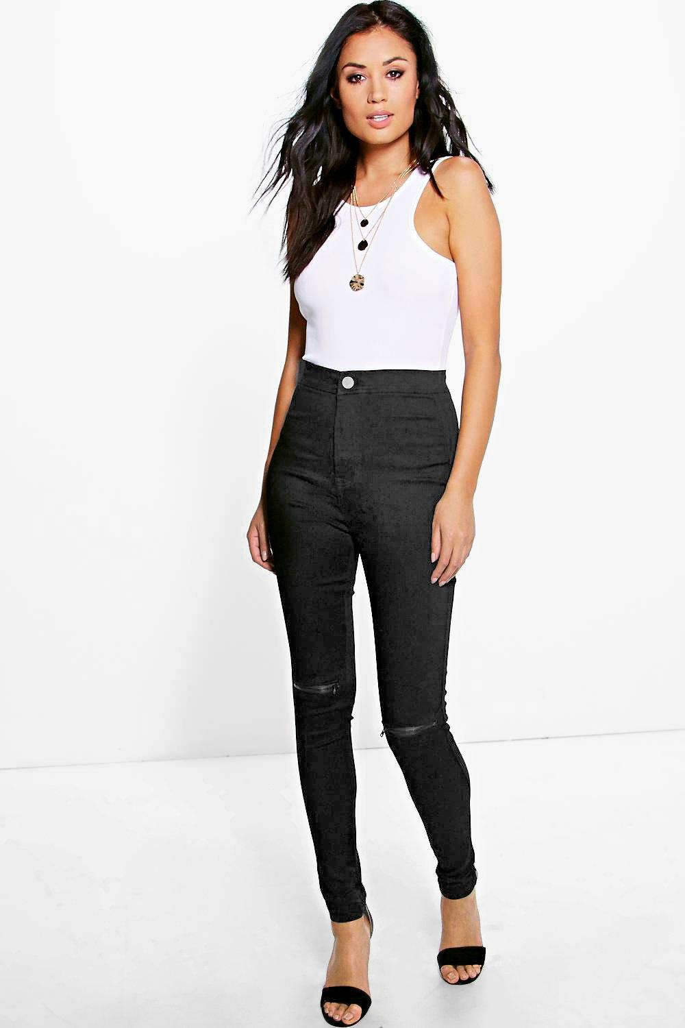 Julia Black High Rise Tube Jeans