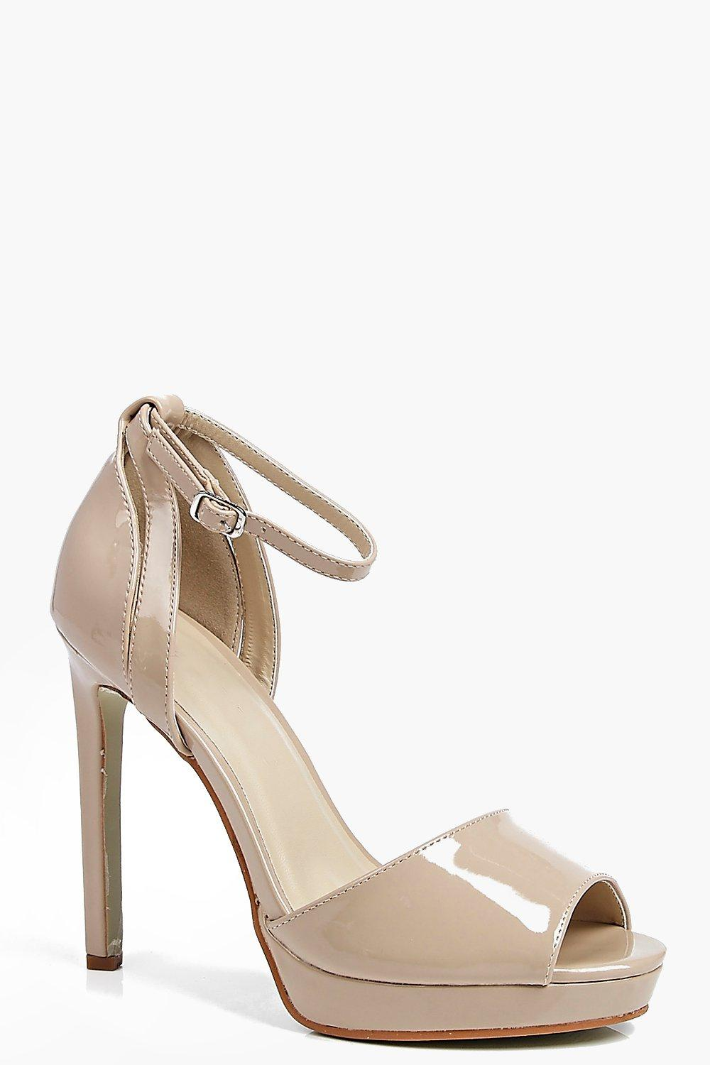 Phoebe Peeptoe Strappy Two Part Heels