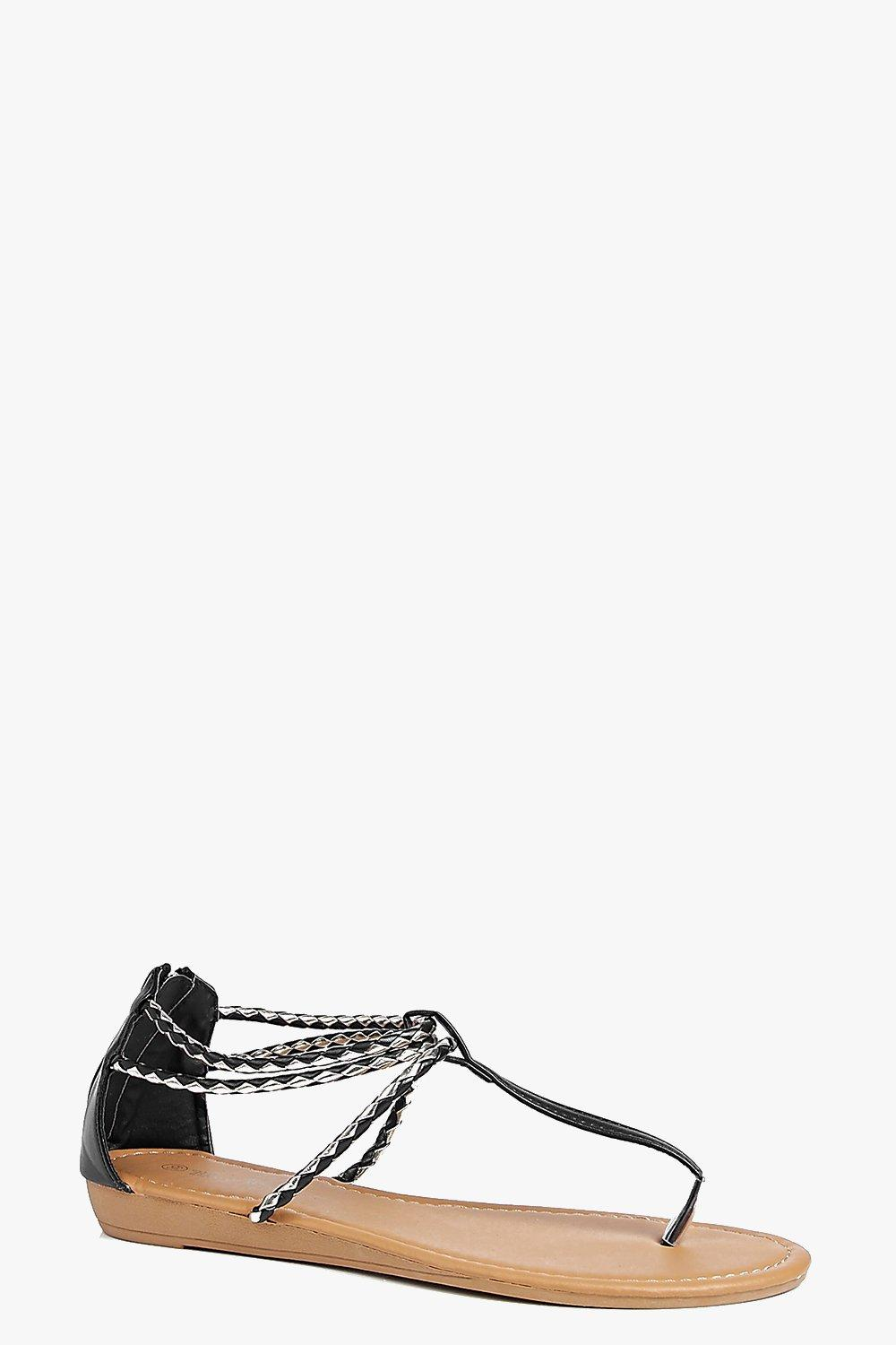 Maria Metallic Plaited Thong Sandal