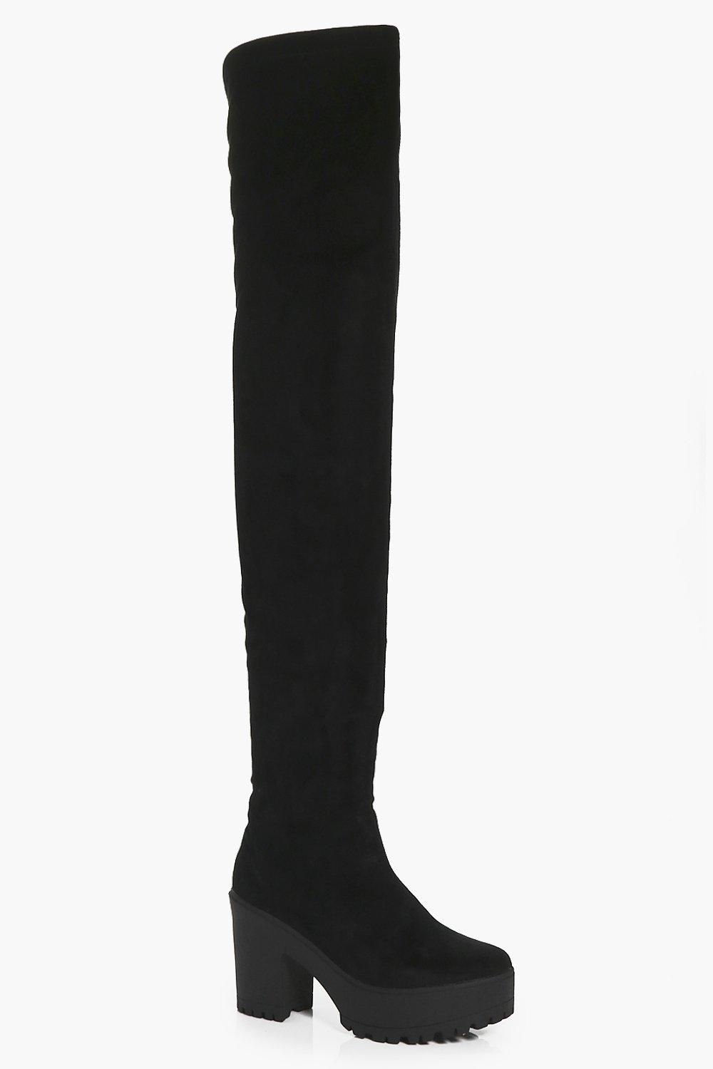 Amber Cleated Thigh High Boot