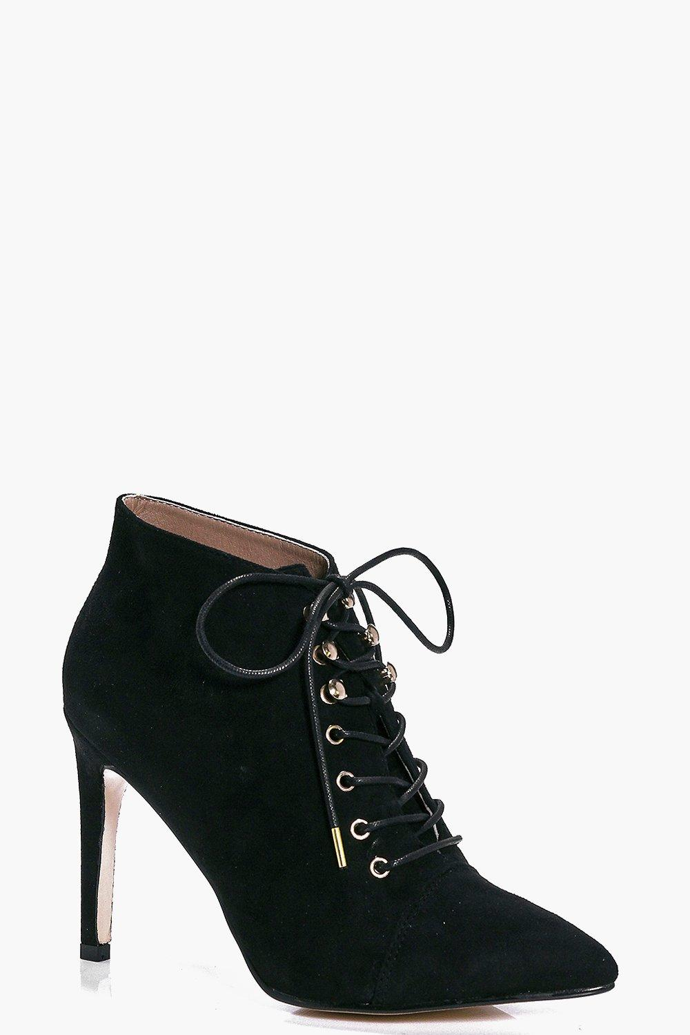 Carla Lace Up Pointed Boot