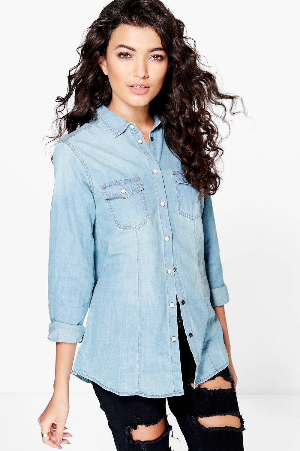 Ashley Slim Fit Denim Shirt