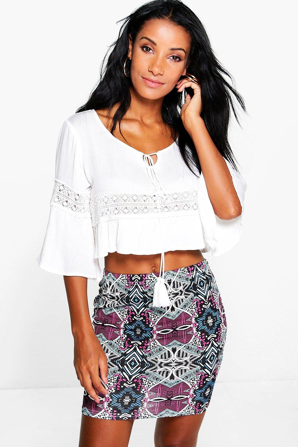 Effie Geo Print Mini Skirt