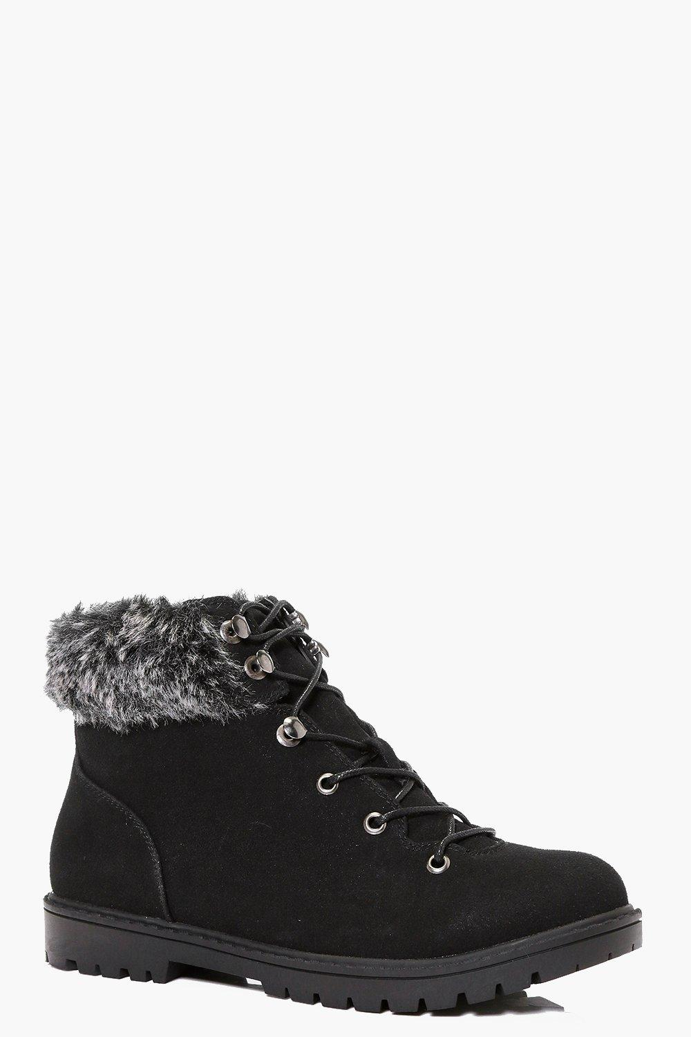 Maisie Fur Ankle Hiker Boot