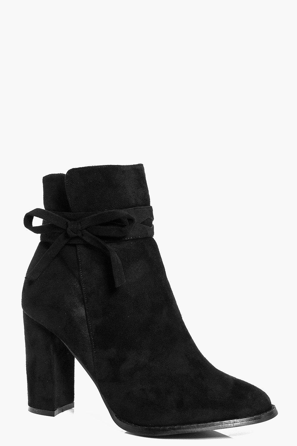 Laura Detail Ankle Bow Block Boot