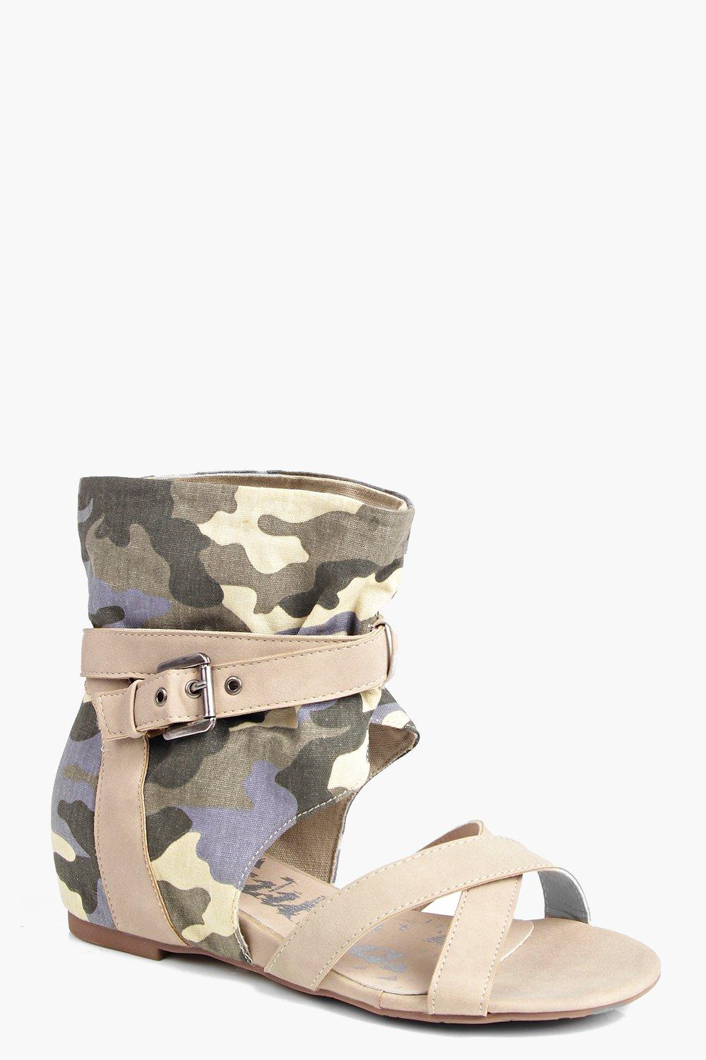 Grace Camo Two Part Sandal