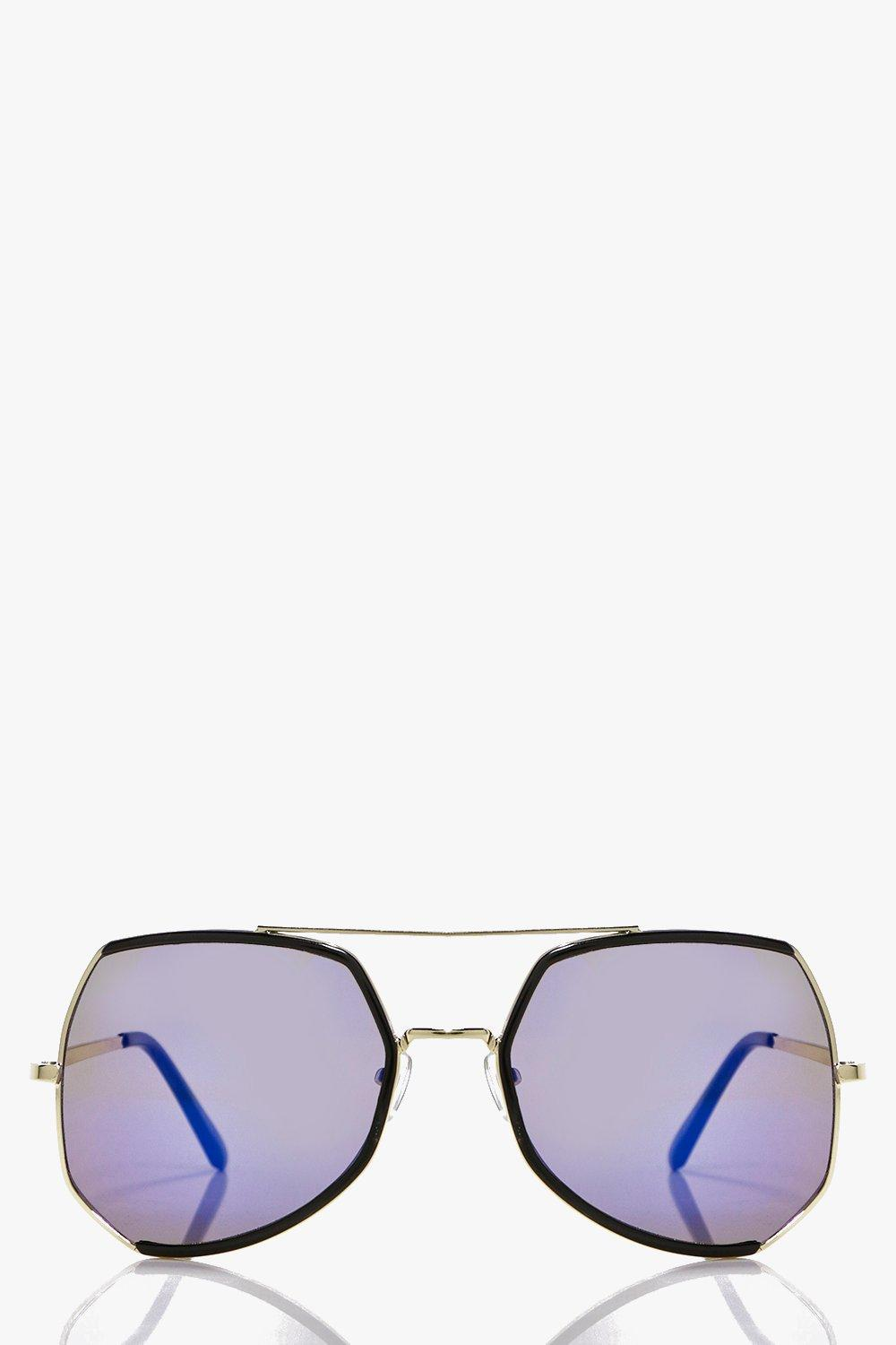 Maya Oversized Square Aviator Sunglasses