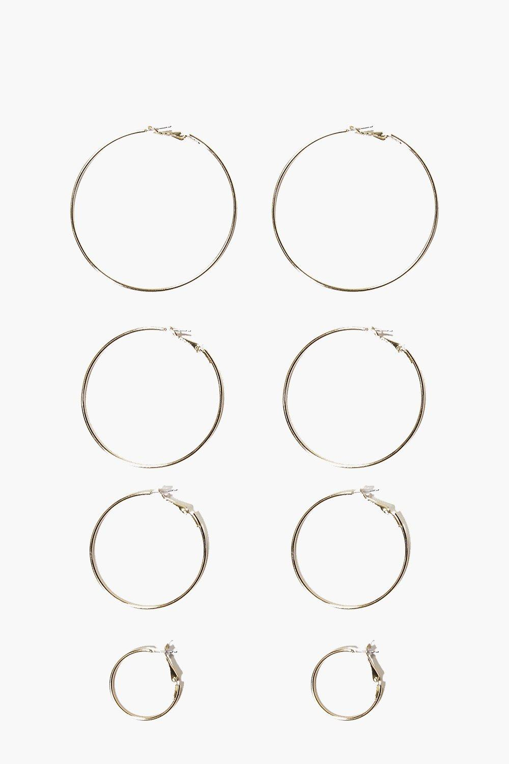 Sophia Mixed Size Simple Hoop Earring Set