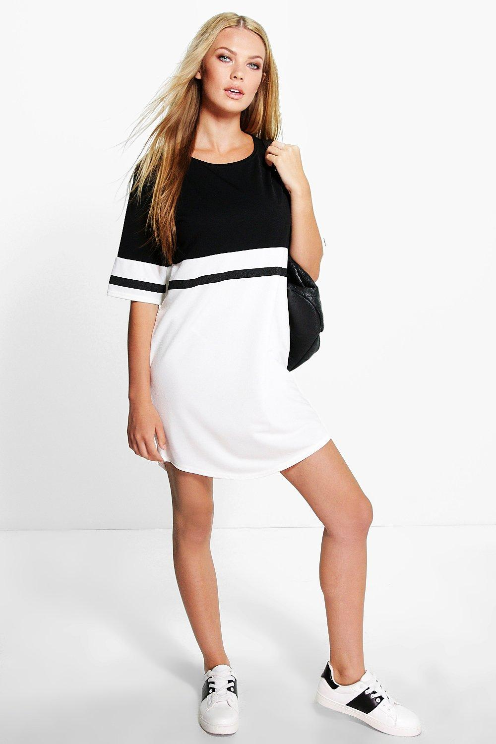 Whitney Colour Block Mono Shift Dress