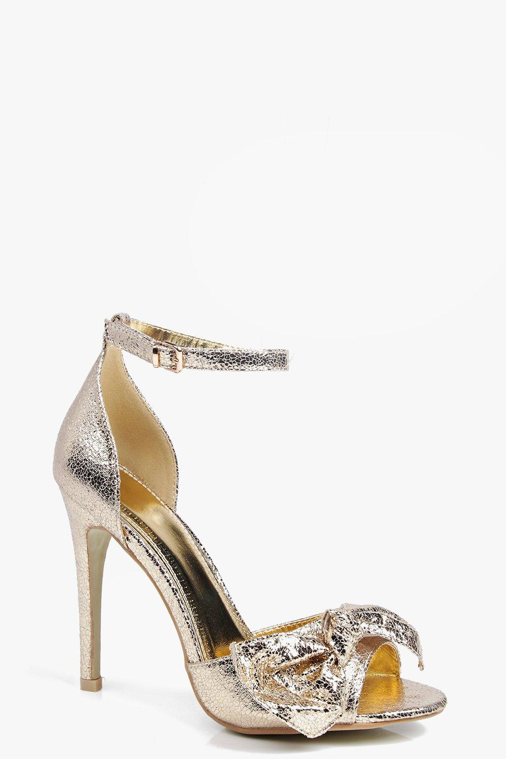 Evelyn Bow Front Peeptoe Heel