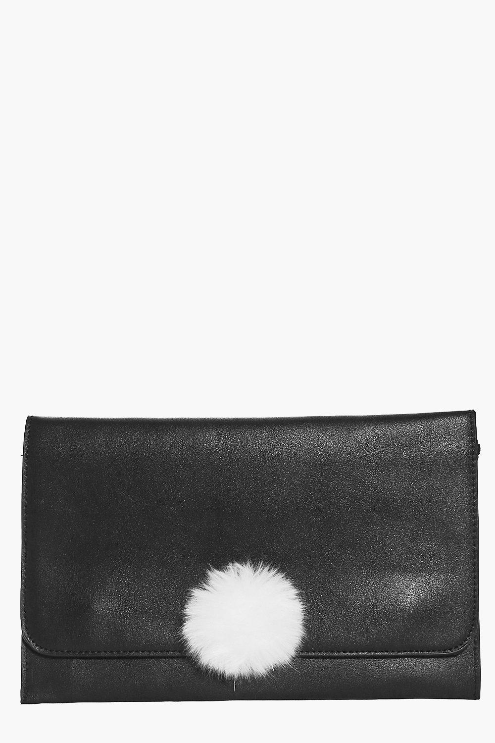 Lois Pom Detail Clutch Bag