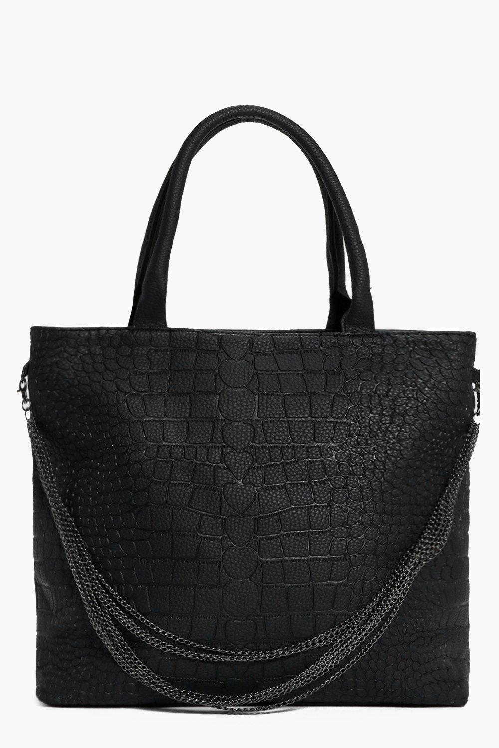 Isabel Mock Croc Chain Detail Day Bag