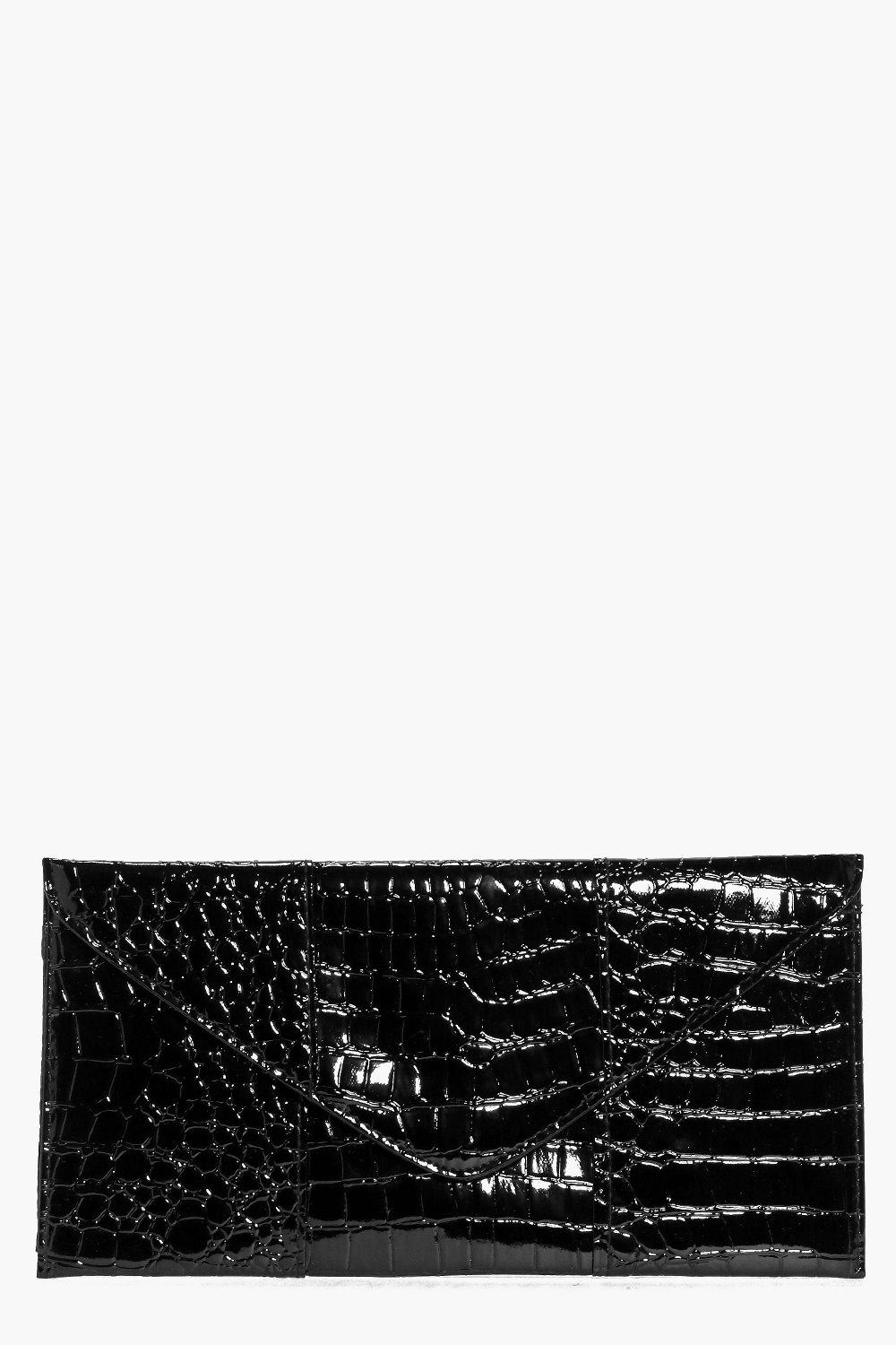 Darcey Mock Croc Envelope Clutch Bag