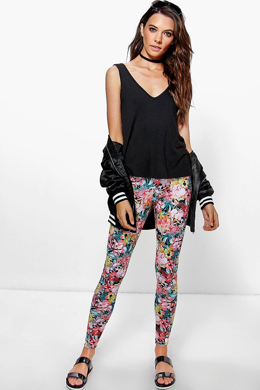 Omari Tropical Print Leggings