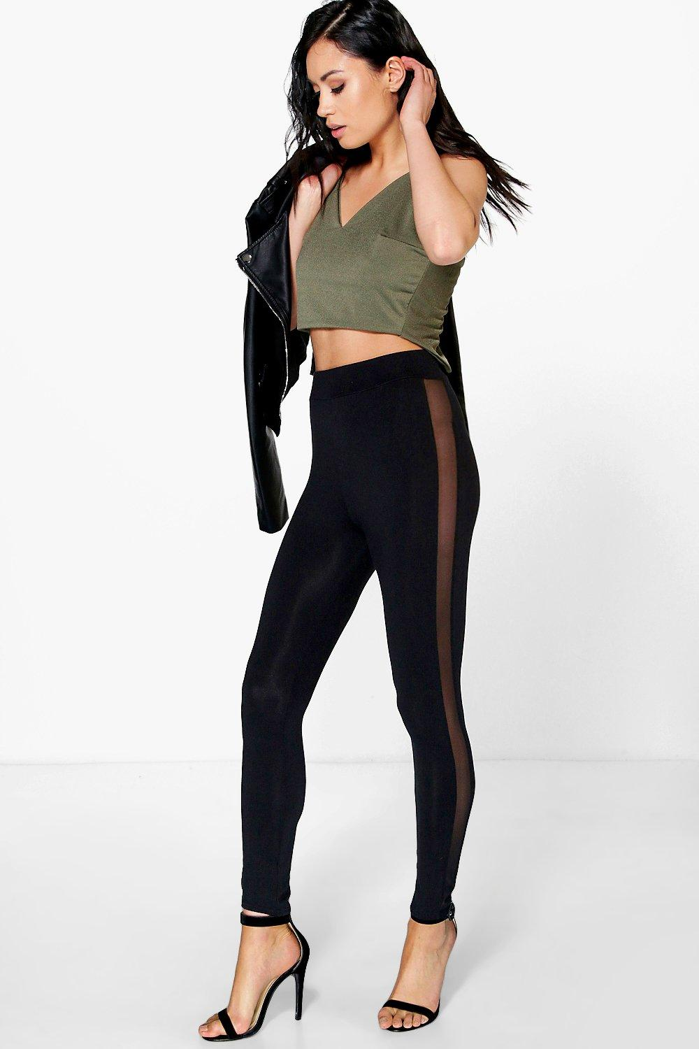 Adriella Mesh Side Panel Leggings
