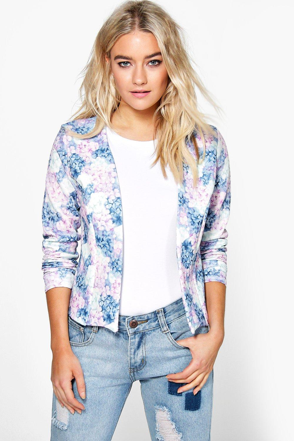 Lucy Pastel Floral Edge To Edge Jacket