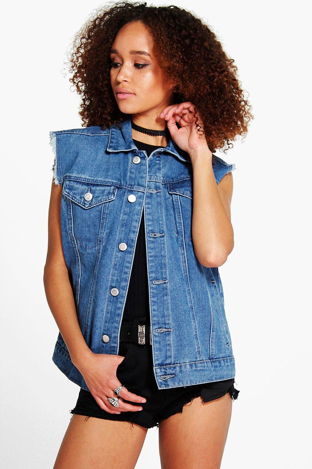 Kellie Oversized Denim Gilet