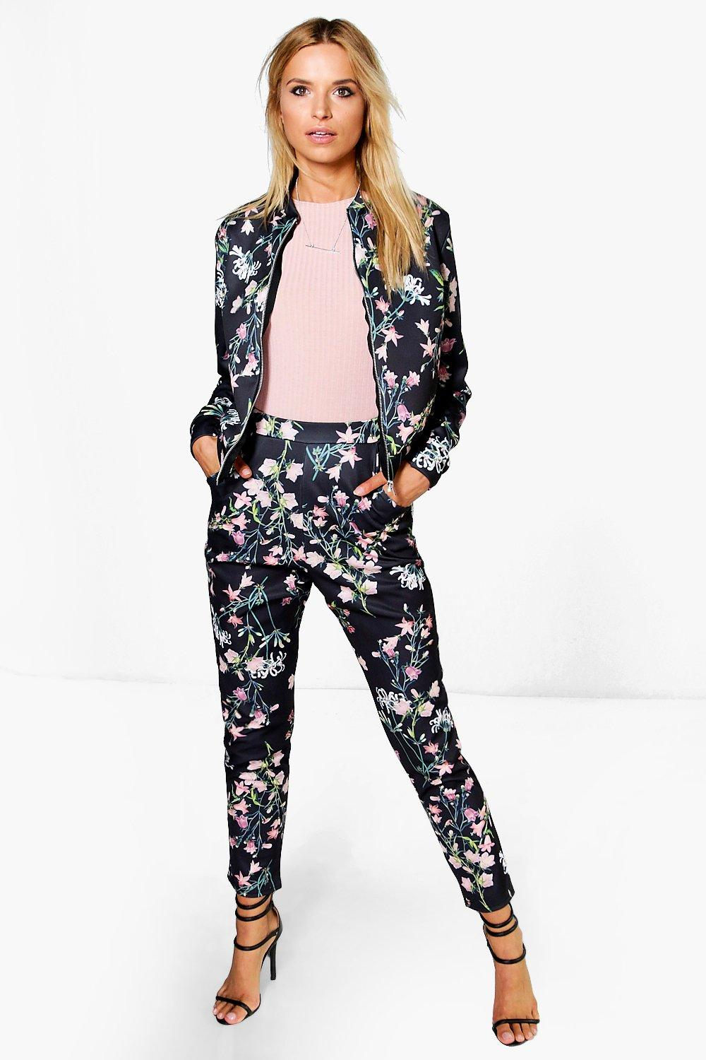 Pia Floral Bomber & Tapered Trouser Co-Ord Set