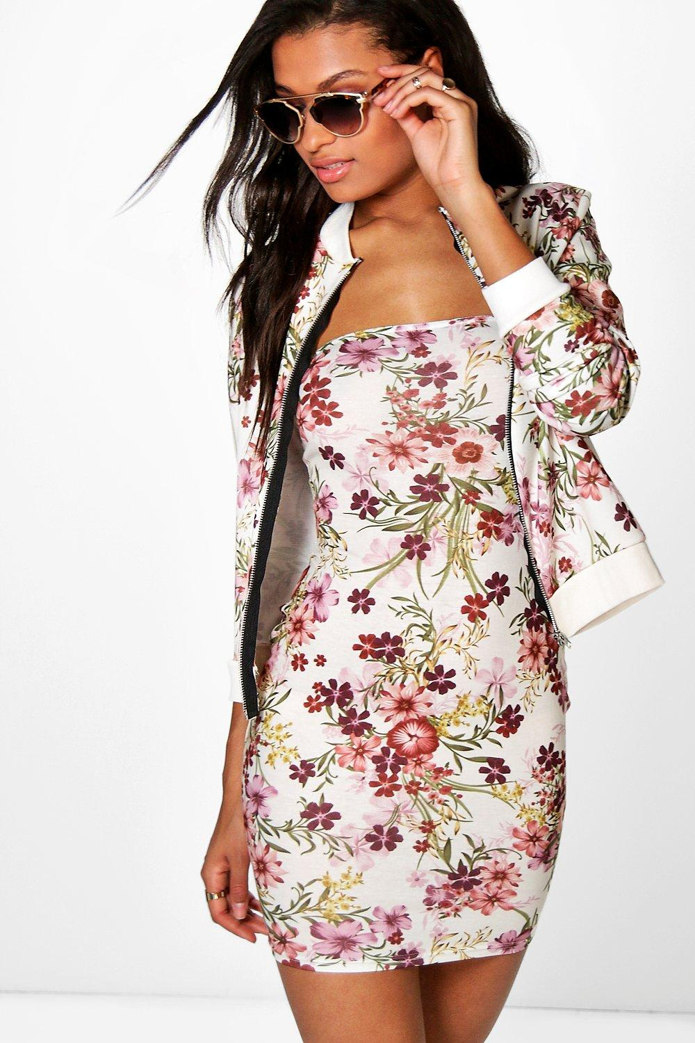 Aida Floral Dress & Bomber Jacket Co-Ord Set