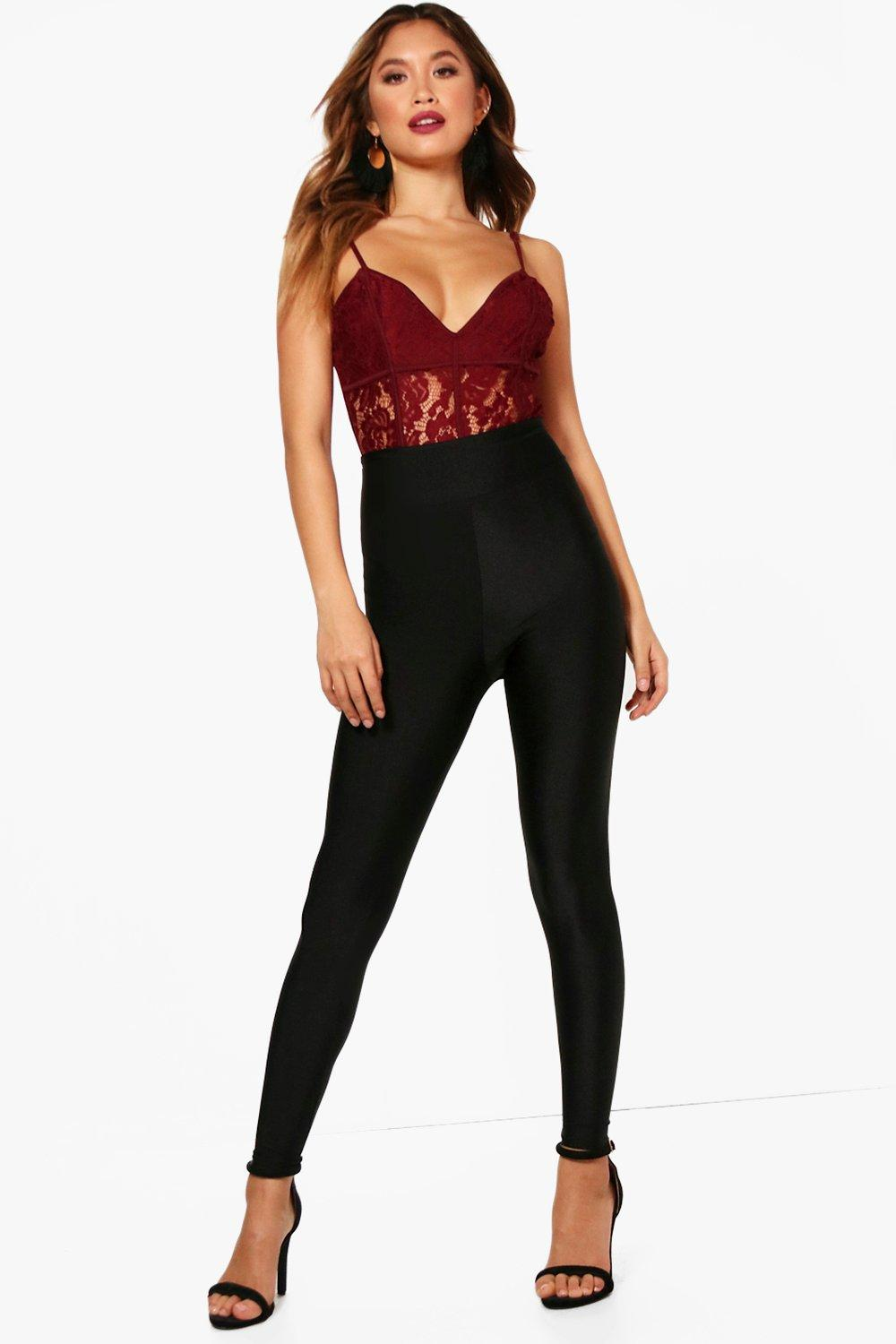 Louella Ankle Grazer High Waist Disco Leggings