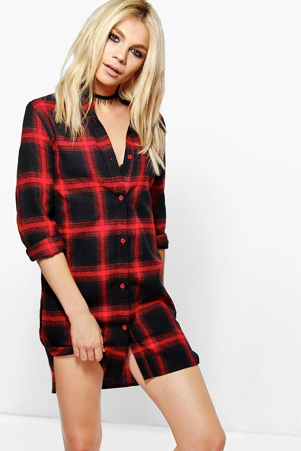 Chelsea Checked Shirt Dress
