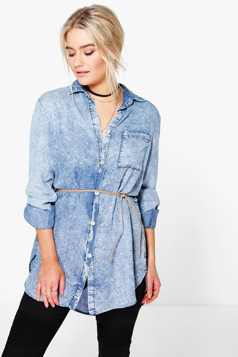 Lucy Acid Wash Denim Shirt