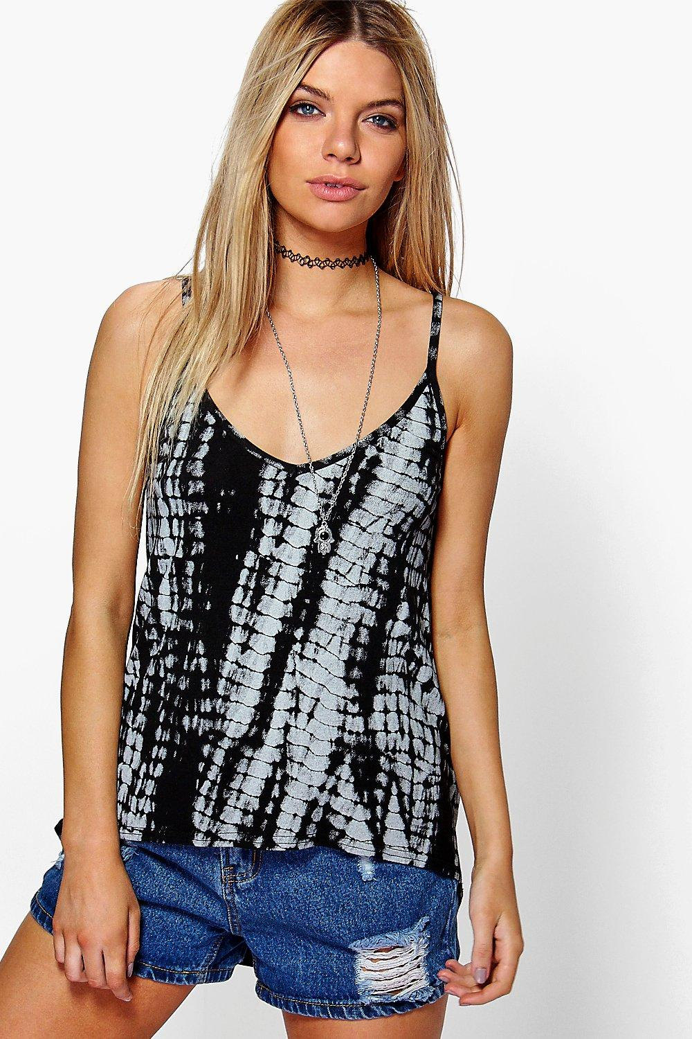 Lydia Mono Tie Dye Caged Back