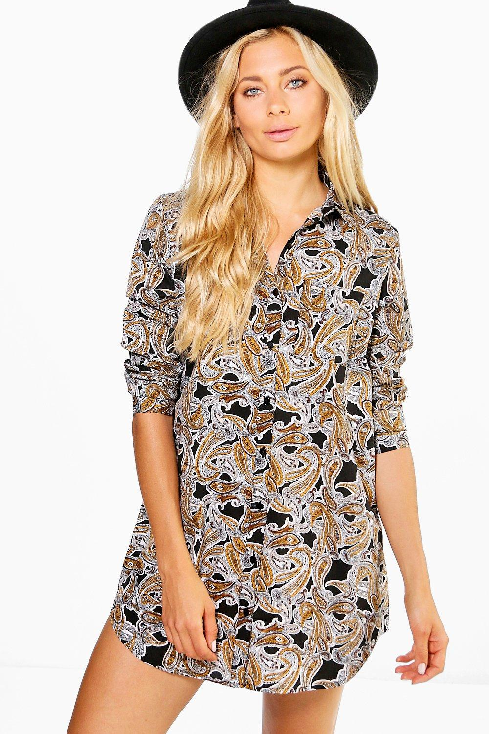Montesina Paisley Print Shirt Dress