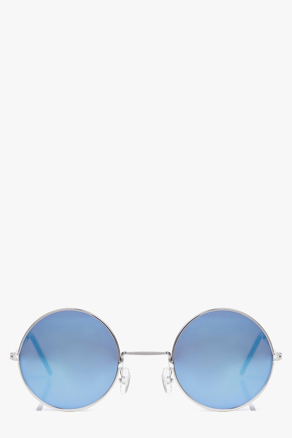 Ava Simple Skinny Round Frame Sunglasses